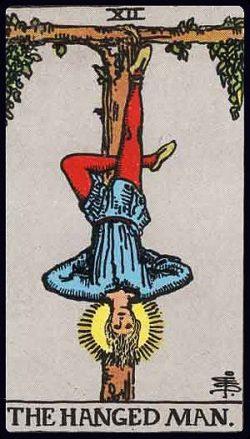 XII - Der Gehängte Tarot Tageskarte
