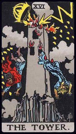 XVI - Der Turm Tarot Tageskarte