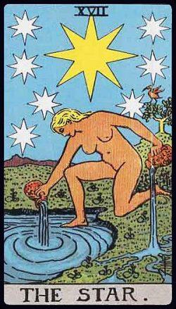 XVII - Der Stern Tarot Tageskarte