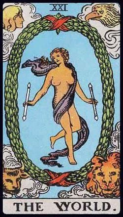 XXI - Die Welt Tarot Tageskarte