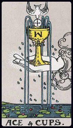 Ass der Kelche Tarot Tageskarte