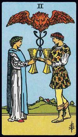 Zwei der Kelche Tarot Tageskarte
