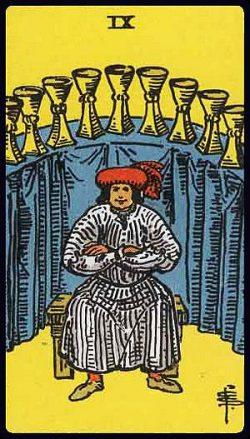 Neun der Kelche Tarot Tageskarte