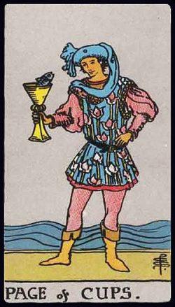 Bube der Kelche Tarot Tageskarte