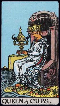 Königin der Kelche Tarot Tageskarte