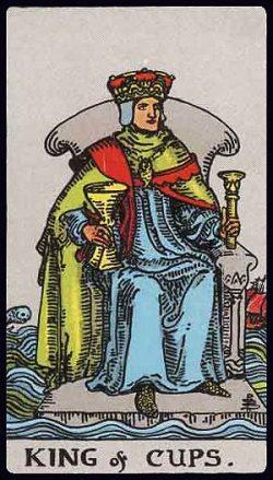 König der Kelche Tarot Tageskarte