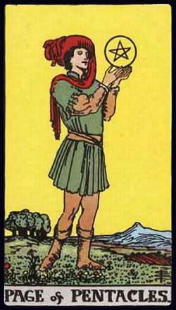 Bube der Münzen Tarot Tageskarte