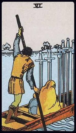 Sechs der Schwerter Tarot Tageskarte