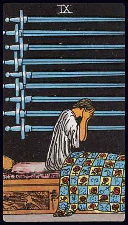 Neun der Schwerter Tarot Tageskarte