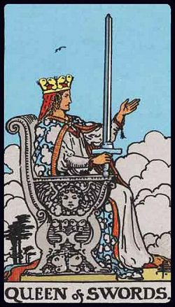 Königin der Schwerter Tarot Tageskarte