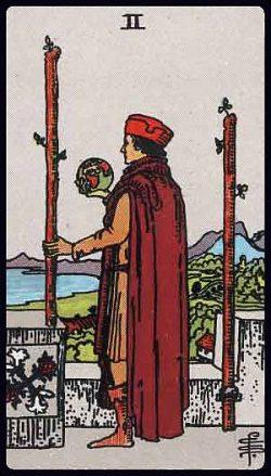 Zwei der Stäbe Tarot Tageskarte
