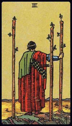 Drei der Stäbe Tarot Tageskarte