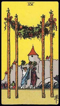 Vier der Stäbe Tarot Tageskarte
