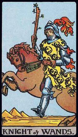 Ritter der Stäbe Tarot Tageskarte
