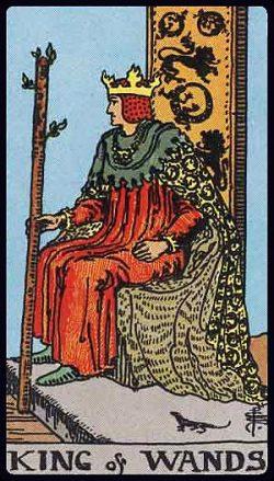 König der Stäbe Tarot Tageskarte