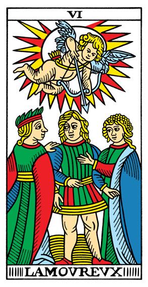 VI - Die Liebenden Tarot Tageskarte
