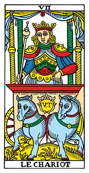 VII - Der Wagen Tarot Tageskarte