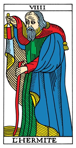 IX - Der Eremit Tarot Tageskarte