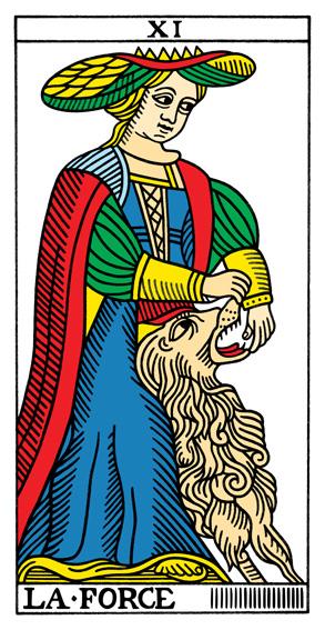 VIII - Die Kraft Tarot Tageskarte