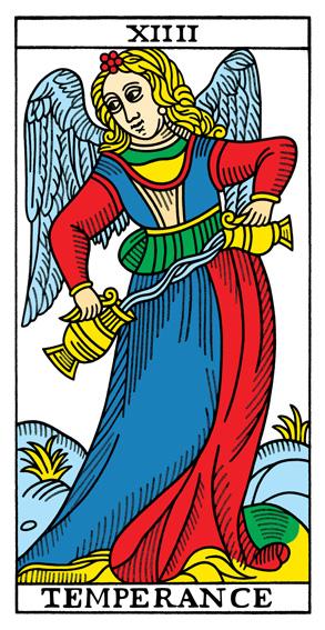 XIV - Die Mäßigkeit Tarot Tageskarte