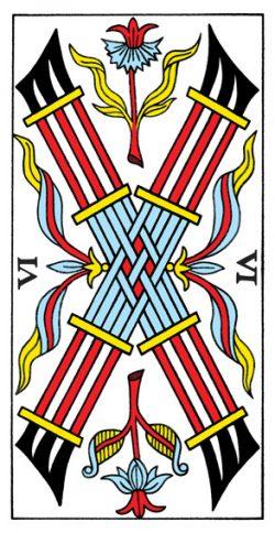 Sechs der Stäbe Tarot Tageskarte