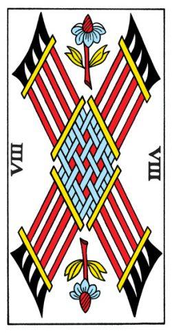 Acht der Stäbe Tarot Tageskarte