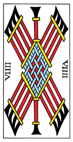 Neun der Stäbe Tarot Tageskarte