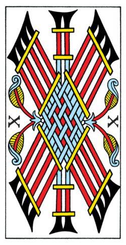 Zehn der Stäbe Tarot Tageskarte