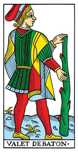 Bube der Stäbe Tarot Tageskarte