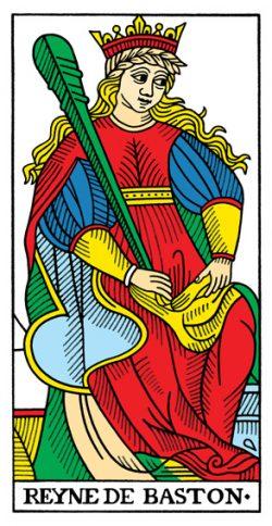 Königin der Stäbe Tarot Tageskarte