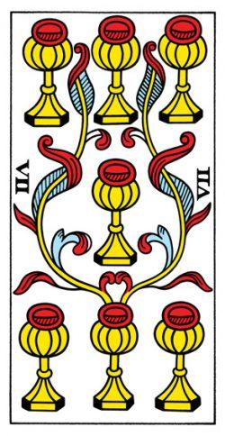 Sieben der Kelche Tarot Tageskarte