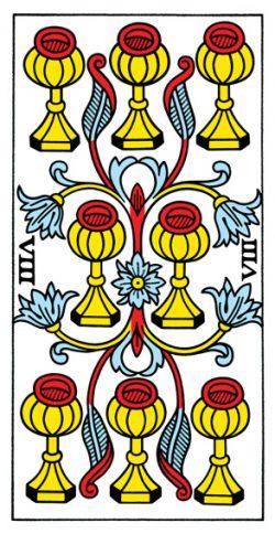 Acht der Kelche Tarot Tageskarte