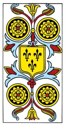 Vier der Münzen Tarot Tageskarte