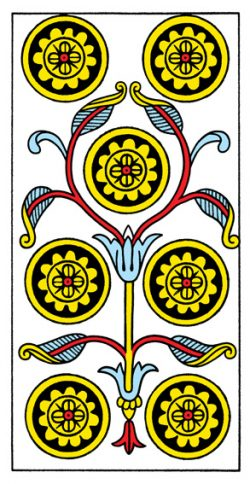 Sieben der Münzen Tarot Tageskarte