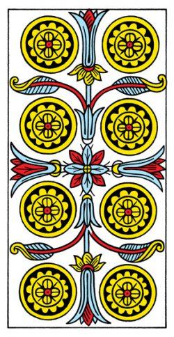 Acht der Münzen Tarot Tageskarte