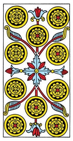 Zehn der Münzen Tarot Tageskarte