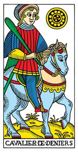 Ritter der Münzen Tarot Tageskarte