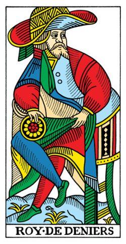 König der Münzen Tarot Tageskarte