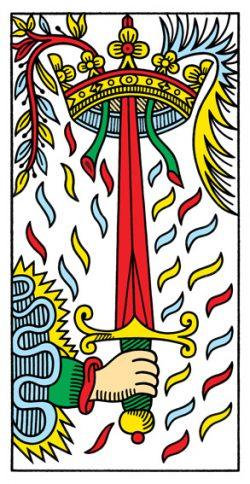 Ass der Schwerter Tarot Tageskarte