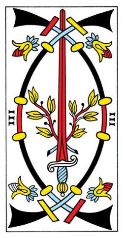 Drei der Schwerter Tarot Tageskarte