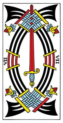Sieben der Schwerter Tarot Tageskarte