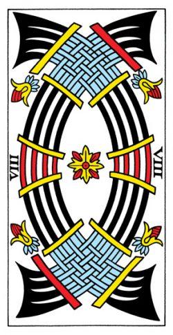 Acht der Schwerter Tarot Tageskarte