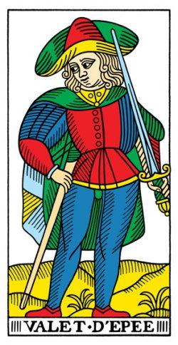 Bube der Schwerter Tarot Tageskarte