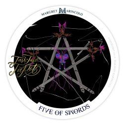 Fünf der Schwerter Tarot Tageskarte
